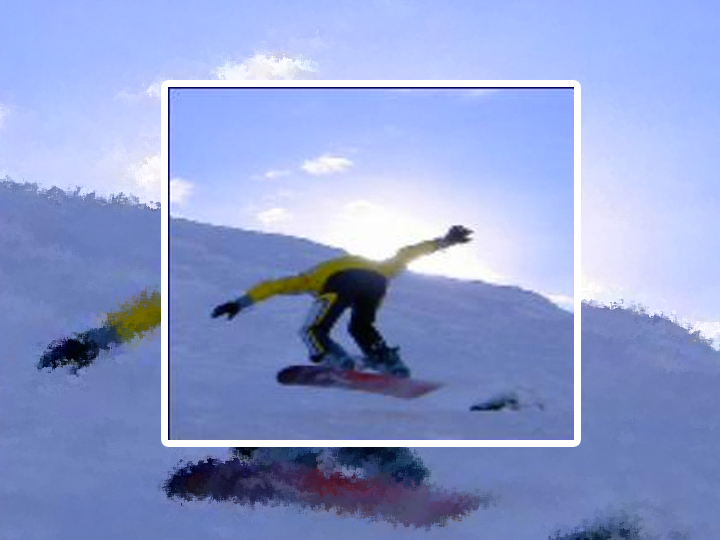 Snowboarder in Aktion
