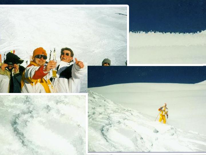 Skifahrer in Aktion